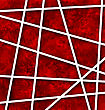 Illustration Red Abstract Geometric Background With White Paper Lines - Vector