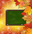 Illustration School Board With Maple Leaves, Autumn Background - Vector