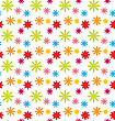 Illustration Seamless Floral Kid Texture With Colorful Flowers, Beautiful Pattern For Textile - Vector