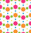 Illustration Seamless Floral Pattern With Colorful Flowers, Beautiful Pattern For Textile - Vector
