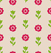 Illustration Seamless Floral Texture, Vintage Pattern For Textile - Vector