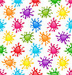 Illustration Seamless Fun Pattern With Multicolored Blots - Vector
