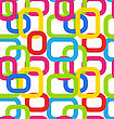 Illustration Seamless Geometric Pattern With Colorful Rectangles - Vector