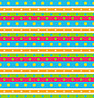 Illustration Seamless Geometric Pattern With Stripes And Circles, Retro Background - Vector
