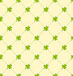 Illustration Seamless Ornamental Pattern With Clovers For St. Patricks Day, Irish Nature Background - Vector
