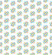 Illustration Seamless Pattern Of Atomic Symbols For Science, Colorful Flat Icons, Chemistry Background - Vector