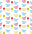 Illustration Seamless Pattern With Bunting Party Flags For Your Designs (Birthday Party, Wedding Celebration, Wrapping Paper, Textile, Wallpaper) - Vector stock illustration