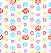 Illustration Seamless Pattern With Colored Lollipops, Giftwrap For Sweets - Vector