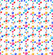 Illustration Seamless Pattern With Colorful Circles, Party Background - Vector