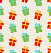 Illustration Seamless Pattern With Colorful Gift Boxes For Celebrate - Vector