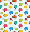 Illustration Seamless Pattern With Colorful Speech Bubbles - Vector