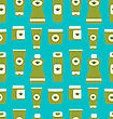 Illustration Seamless Pattern Of Cosmetics Containers (Creams, Shampoos, Conditioners, Lotions) - Vector