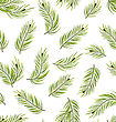 Illustration Seamless Pattern With Fir Branches, Nature Texture - Vector