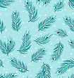 Illustration Seamless Pattern With Fir Twigs, Winter Texture - Vector stock illustration