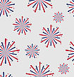 Illustration Seamless Pattern Firework For Independence Day Of USA, Wallpaper For American Holidays - Vector