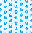 Illustration Seamless Pattern With Hand Drawn Butterflies - Vector