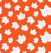 Illustration Seamless Pattern Of Maple Leaves - Vector
