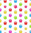 Illustration Seamless Pattern With Multicolored Hand Drawn Butterflies - Vector