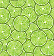 Illustration Seamless Pattern Slices Of Lime, Repetition Background - Vector