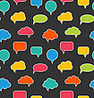 Illustration Seamless Texture With Blank Speech Bubbles - Vector