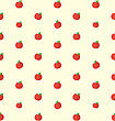 Illustration Seamless Texture With Bright Apples, Food Background - Vector stock vector