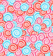 Illustration Seamless Texture With Colored Sweets, Swirl Lollipops - Vector
