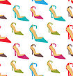 Illustration Seamless Texture With Colorful Women Summer Shoes - Vector