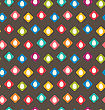 Illustration Seamless Texture With Easter Eggs - Vector