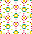 Illustration Seamless Texture With Flowers, Beautiful Kid Pattern - Vector