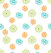 Illustration Seamless Texture With Flowers And Butterflies, Elegance Pattern - Vector