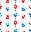 Illustration Seamless Texture With Gift Boxes For Celebrate, Holiday Wallpaper - Vector