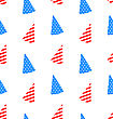 Illustration Seamless Texture Hudcap For Independence Day Of America, US National Colors - Vector