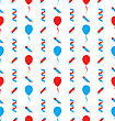 Illustration Seamless Texture For Independence Day Of America, US National Colors - Vector