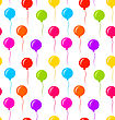 Illustration Seamless Texture Multicolored Balloons For Party - Vector