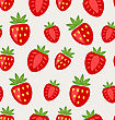 Illustration Seamless Texture Of Ripe Strawberry, Natural Background - Vector stock illustration
