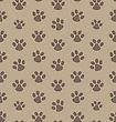 Illustration Seamless Texture With Trace Of Cat - Vector