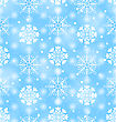Illustration Seamless Texture With Variation Snowflakes, Holiday Wallpaper - Vector