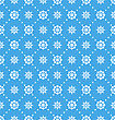 Illustration Seamless Wallpaper With Beautiful Snowflakes, Winter Background - Vector