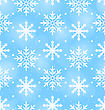 Illustration Seamless Wallpaper With Different Snowflakes, December Background - Vector