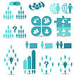 Business People Illustration Set Business Icons, Management And Human Resources - Vector stock illustration