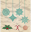 Set Christmas And New Year Elements