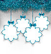 Illustration Set Christmas Paper Snowflakes With Copy Space For Your Text - Vector