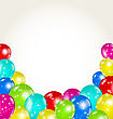 Illustration Set Colorful Balloons For Happy Birthday - Vector