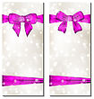 Illustration Set Of Cute Cards With Gift Bows - Vector