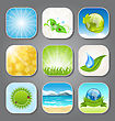 Illustration Set Different Backgrounds For The App Icons - Vector