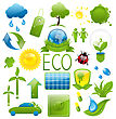Illustration Set Of Green Ecology Icons (2) - Vector