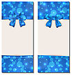 Illustration Set Holiday Cards With Gift Bows Isolated - Vector