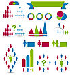 Business People Illustration Set Human Infographic Design Elements - Vector stock illustration