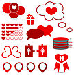 Illustration Set Infographic Elements Of Valentine Presentation - Vector