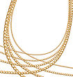 Set Jewelry Gold Chains Different Size - Vector Eps10